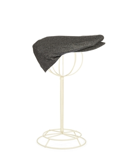 1826Cashmere Newsboy Cap by Black Brown in The Walk