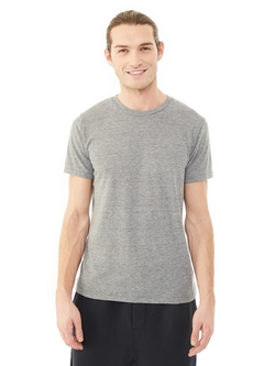 Drop Neck Crew T-Shirt by Alternative Apparel in Everest