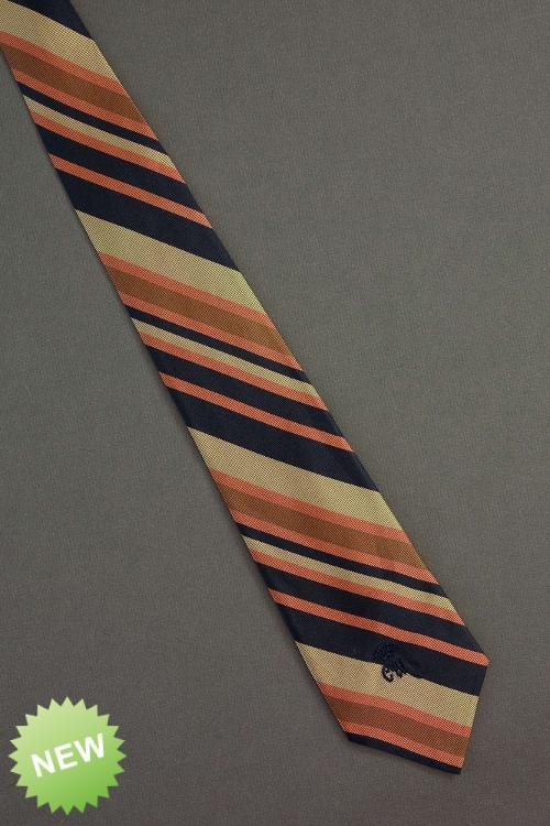 Orange Striped - 1970s Countess Mara Necktie by Yournecktieshop in Anchorman 2: The Legend Continues