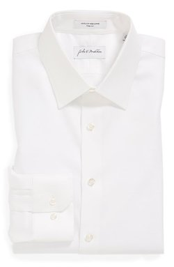 Trim Fit Non-Iron Solid Dress Shirt by John W. Nordstrom in The Boy Next Door