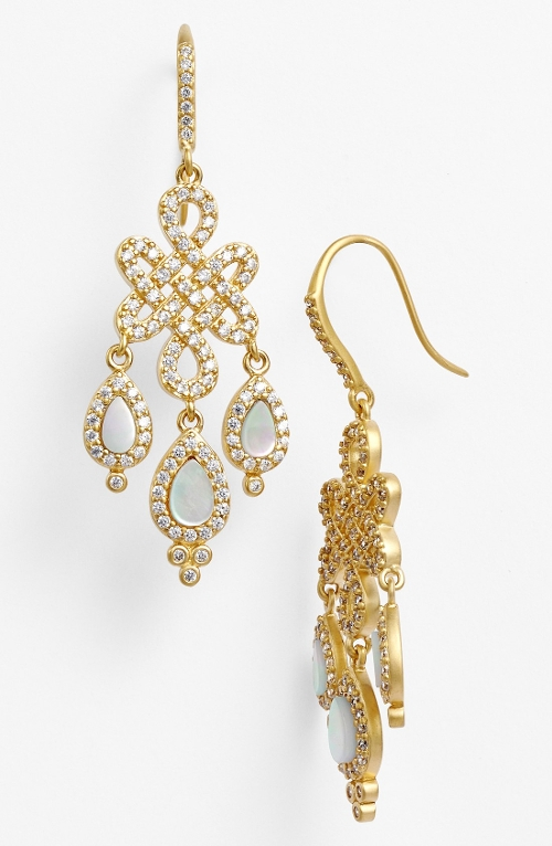 'Femme' Chandelier Earrings by Freida Rothman in Sex and the City 2