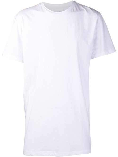 White Cotton Basic T-shirt by Stampd in Blackhat