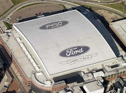 Detroit, MI by Ford Field in Need for Speed