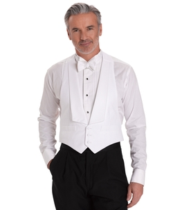 Cotton Pique Tuxedo Vest by Brook Brothers in Scandal