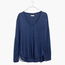 Anthem Long-Sleeve V-Neck T-Shirt by Madewell in Modern Family