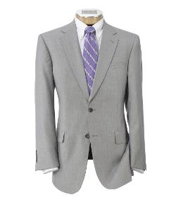 Signature Imperial Wool/Silk Suit with Plain Front Trousers by Jos. A. Bank in Million Dollar Arm