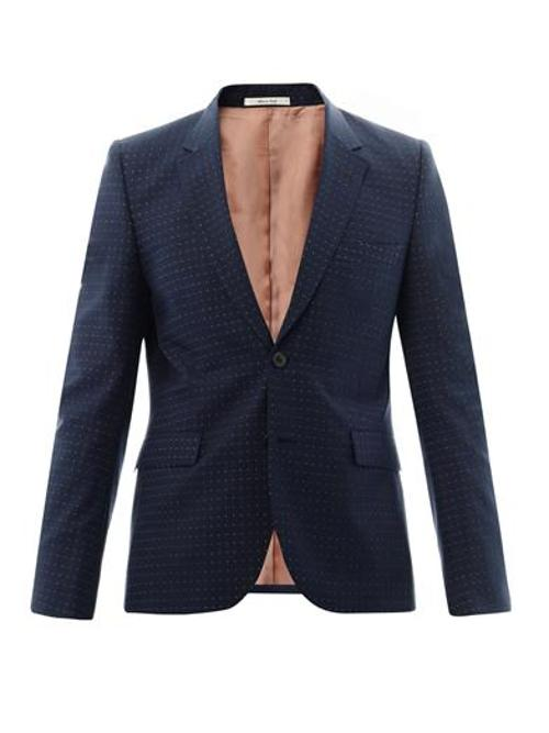 Two-Button Dot-Weave Blazer by Paul Smith in Get On Up