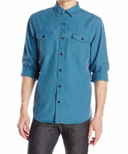 Burn Long Sleeve Woven Shirt by Hurley in The Ranch