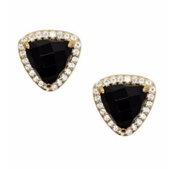 Onyx Stud Earrings by Gemma Collection in The Good Wife