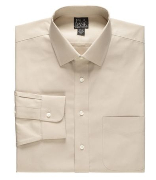 Traveler Slim Fit Spread Collar Dress Shirt by Jos. A. Bank in Our Brand Is Crisis