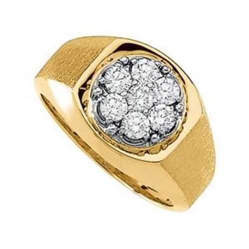 Gents Diamond Cluster Ring by Jewelplus in The Town