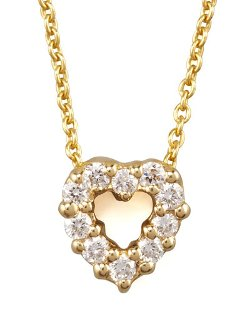 Pave Heart Necklace by Roberto Coin in Couple's Retreat