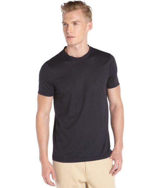 Cotton Knit Short Sleeve Crewneck T-Shirt by Giorgio Armani in That Awkward Moment
