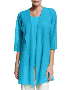 Gauze Knit Draped Jacket by Caroline Rose in Mistresses