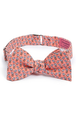 Pelican Print Silk Bow Tie by Vineyard Vines in Scream Queens