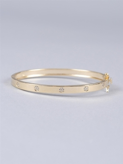 Pave Flower Bangle by Armitage Avenue in My All American