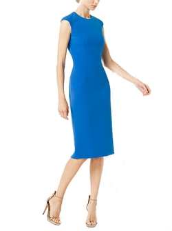 Stretch Wool-Crepe Cap-Sleeve Sheath Dress by Michael Kors in How To Get Away With Murder