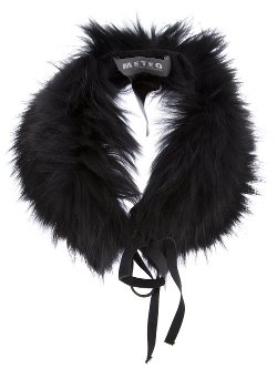 Fox Fur Collar Scarf by Yves Salomon in That Awkward Moment