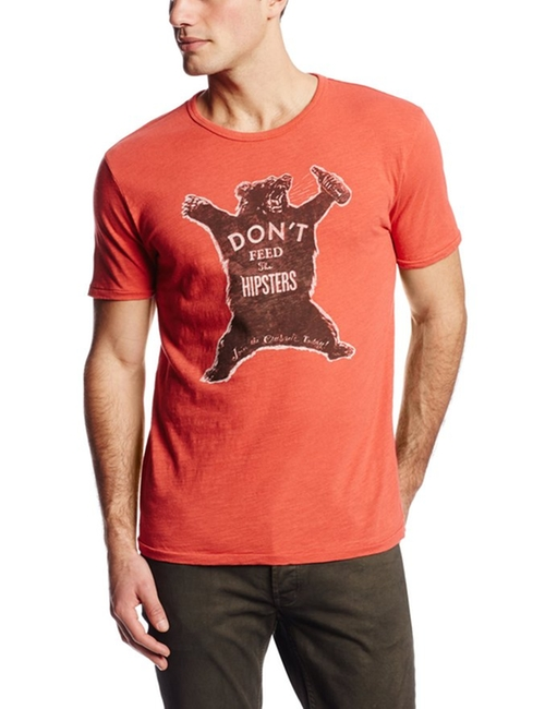 Don't Feed The Hipsters Graphic T-Shirt by Lucky Brand in The Flash - Season 2 Episode 9