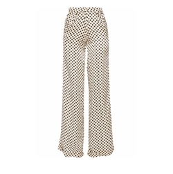 Capote Polka-Dot Silk-Charmeuse Wide-Leg Pants by Johanna Ortiz in Empire