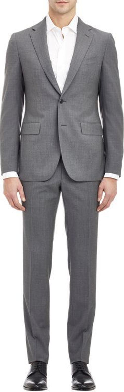 Alton Two-Button Suit-Grey by Boglioli in Empire