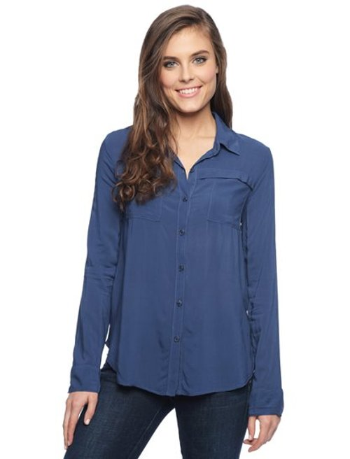 Rayon Voile Button Down Shirt by Splendid in While We're Young