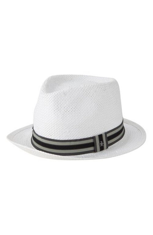 Stripe Straw Fedora Hat by Original Penguin in High School Musical 3: Senior Year