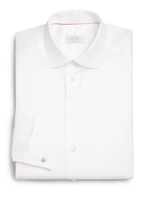 Slim-Fit Solid Twill Dress Shirt by Eton of Sweden in The Hundred-Foot Journey