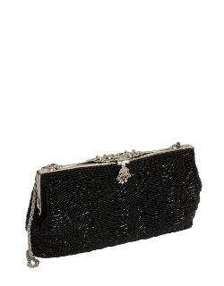 Vintage-Style Beaded Clutch by ZOE ADAMS in About Last Night