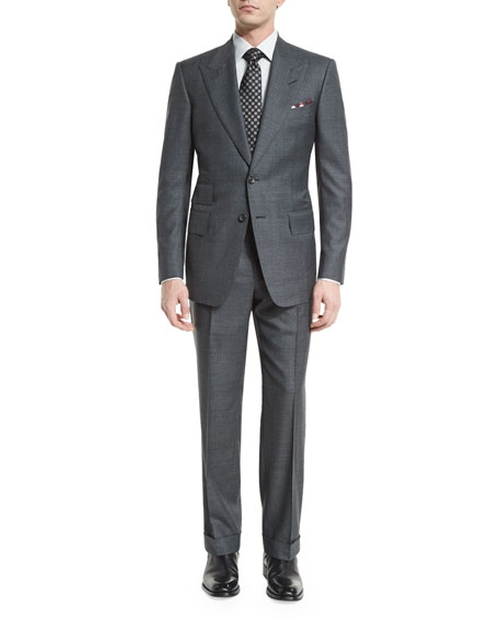 Windsor Base Peak-Lapel Irregular-Check Suit by Tom Ford in Suits - Season 6 Episode 6