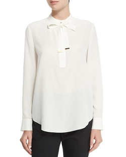 Tie-Neck Silk Blouse by Magaschoni in Scandal