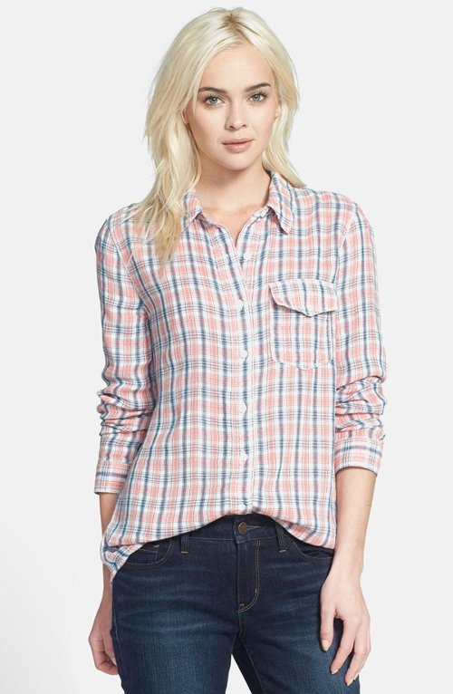 Long Plaid Shirt by Treasure&Bond in Pitch Perfect 2