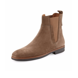 Suede Chelsea Boots by Vince in Empire