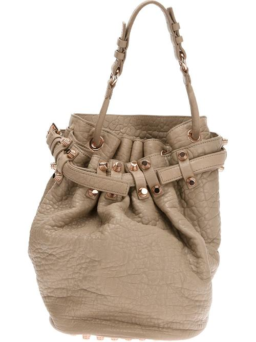 Diego Leather Bucket Bag by Alexander Wang in The Other Woman