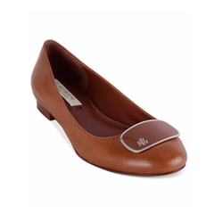 Carmen Slip On Flats by Lauren Ralph Lauren in Animal Kingdom