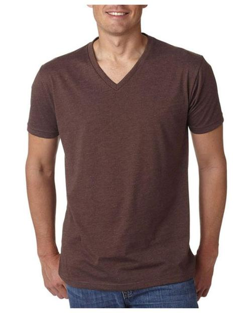 Men's Basic V-Neck Solid Cotton Knit T-Shirt Top by G Zap in Addicted
