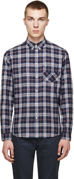 Button Down Plaid Shirt by Paul Smith Jeans in Scandal