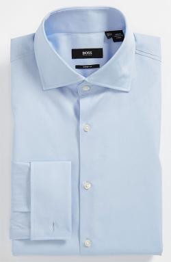 'Malvin' Sharp Fit Dress Shirt by HUGO BOSS in Million Dollar Arm