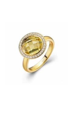 Round Lemon-Quartz Ring by Shoptiques in Pretty Little Liars