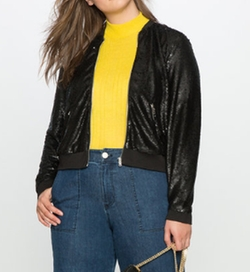 Sequin Bomber Jacket by Eloquii in Pitch Perfect 3