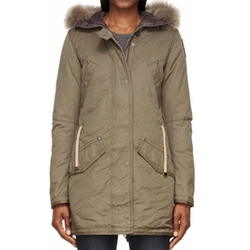 Olive Fur-Trimmed Marilyn Army Coat by Parajumpers in Keeping Up With The Kardashians
