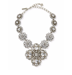 Crystal Statement Necklace by Oscar De La Renta in Empire