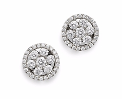 Diamond Round Cluster Earrings by Roberto Coin in The Good Wife