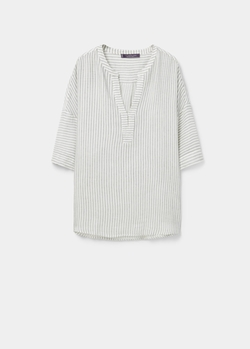 Wool Cotton Blend Blouse by Mango in A Bigger Splash