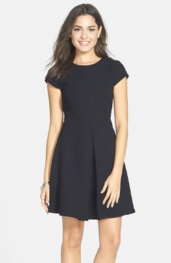Cap Sleeve Skater Dress by Everly in Vice