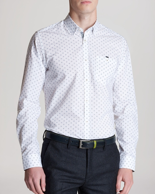 Hexagonal Print Button Down Shirt by Ted Baker in Adult Beginners