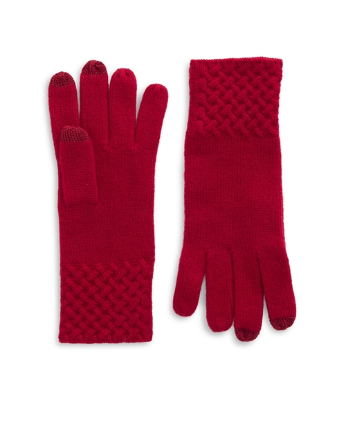 Knit Cuff Cashmere Gloves by Lord & Taylor in Confessions of a Shopaholic