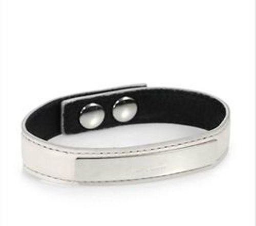 Metal-Plated Leather Cuff Bracelet by Saint Laurent in The Boy Next Door