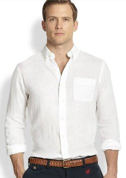 Linen Mercer Pocket Sportshirt by Polo Ralph Lauren in That Awkward Moment