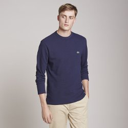 Long Sleeve Waffle Crewneck T-shirt by Lacoste in That Awkward Moment